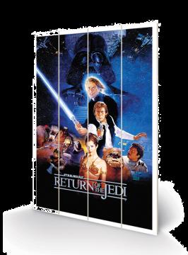 Star Wars - Return Of The Jedi Wooden Wall Art