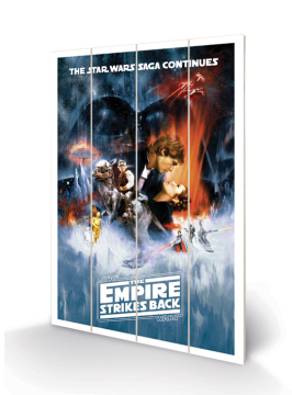 Star Wars - The Empire Strikes Back Wooden Wall Art
