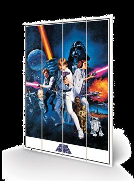 Star Wars - A New Hope Wooden Wall Art
