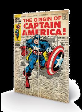 Captain America - Wooden Wall Art