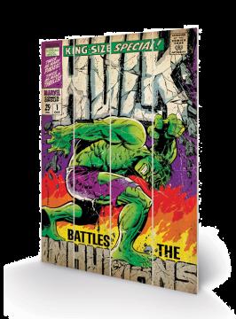 Hulk - Battles Wooden Wall Art