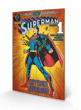 Superman - Wooden Wall Art