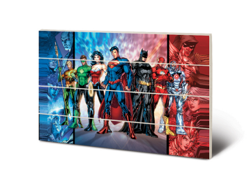 Justice League - Wooden wall Art