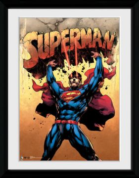 SUPERMAN - STRENGTH FRAMED COLLECTOR PRINT
