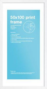 50 x 100 Frame - White
