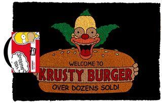The Simpsons - Welcome To Krusty Burger Door Mat