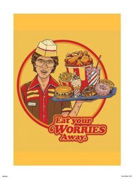 Steven Rhodes - Eat Your Worries Away Art Print