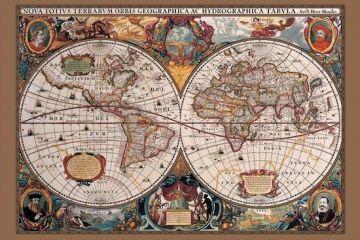 WORLD MAP - 17TH CENTURY