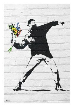 Banksy - Flower Bomber
