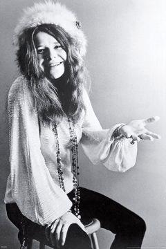 Janis Joplin - B&W Signature