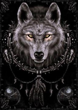 SPIRAL - WOLF DREAM CATCHER